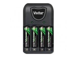 Vivitar AA/AAA Battery Charger With 4 AA Batteries - VIV-BC-172