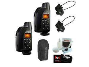 PocketWizard Plus III Transceiver (2 pcs) and Transceiver Caddy V3 (2 pcs) plus Carrying Case Bundle