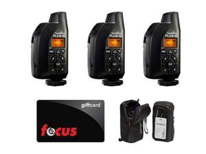 PocketWizard Plus III Transceiver (3pc) plus Carrying Cases