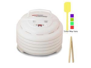 "Nesco FD-1040 1000-watt Gardenmaster Food Dehydrator + Silicone Spatula (Color May Vary)+ 6.5"" Long Bamboo Toast Tong"