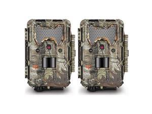 Trail Camera by Bushnell Trophy Cam HD Aggressor Low-Glow Trail Camera (Set of 2) (Realtree)