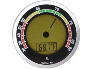Caliber 4R Silver Digital/Analog Hygrometer