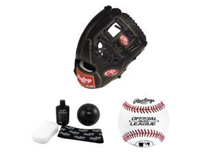 Rawlings RGG2002 11.5-Inch Baseball Mitt (Right Hand Throw) +  Break-In Kit + Baseball