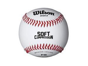 Wilson A1217 Soft Compression Baseball 1 Dozen, White