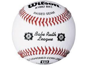 Wilson A1082 Babe Ruth League Series Baseball 1 Dozen, White