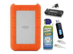 LaCie Rugged Raid, Thunderbolt and USB 3.0 4TB (STFA4000400) Deluxe Bundle