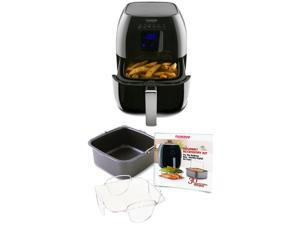 Nuwave Brio Healthy Digital Air Fryer and Brio Air Fryer Accessory Pack