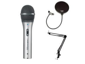 Audio Technica ATR2100USB Mic w/ Knox Desktop Boom Arm Mic Stand & Pop Filter