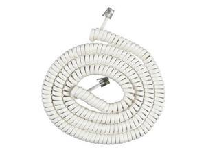 25 Foot White Coil Cord 25 Foot White Coil Cord