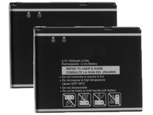 Battery for Pantech PBR-55D (2-Pack) Replacement Battery