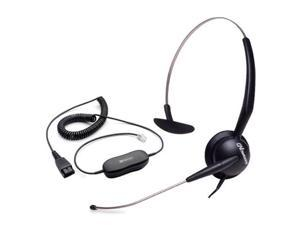 Jabra GN 2110 Mono ST Corded Headset & GN1200 Cable w/ ATL Tech & Swing-Away Boom