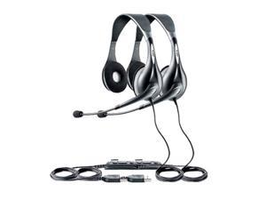 Jabra Voice 150 Duo USB Headset W/ Noise-Canceling Microphone (2-Pack)