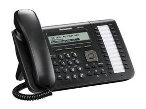 Panasonic KX-UT133 SIP Corded Speakerphone W/ Wireless Headset Compatibility And 3-Line Backlit LCD Display