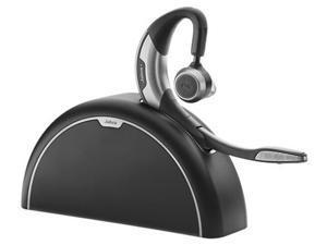 Jabra Motion UC MS Mono Bluetooth Headset & Travel Charge Kit w/ Noise Blackout & NFC Technology