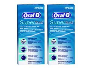 Oral-B SuperFloss-2 Oral-B Super Floss Pre-Cut Strands