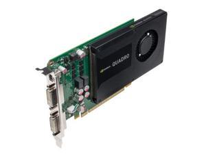 PNY Technologies QZ6743M NVIDIA Quadro K2000D 2GB GDDR5 Graphics card (PNY Part #: VCQK2000D-PB)