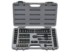 Stanley Mounts STY92824G Stanley Black Chrome and Laser Etched 69-Piece Socket Set