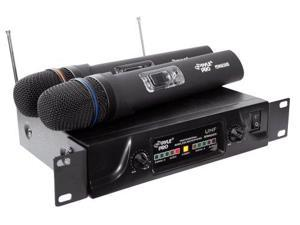 Pyle Audio PYLWM2600B PylePro PDWM2600 Dual UHF Wireless Microphone System