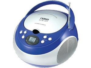 Naxa NAXNPB251BLB naxa npb251bl portable cd player with am/fm radio