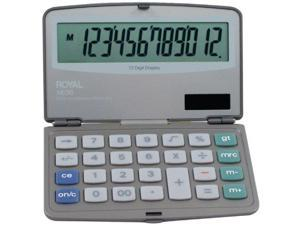 ROYAL ROY29305YM Royal XE36 Calculator with 12 Digit Display Extra Large Display Solar and Battery Power