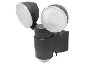MAXSA Innovations MXI43218B MAXSA Innovations 43218 Black Battery-Powered Dual Head LED Security Light