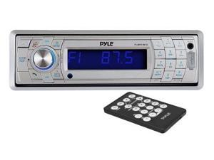 Pyle Audio PYLPLMR17BTSS Pyle PLMR17BTS AM/FM-MPX In-Dash Marine Detachable Face Radio with SD MMC USB Player and Bluetooth Wireless Technology