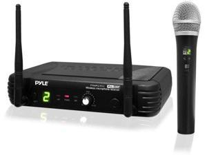 PYLE AUDIO PYLPDWM1902B Premier Series Professional UHF Wireless Handheld Microphone System with Selectable Frequencies