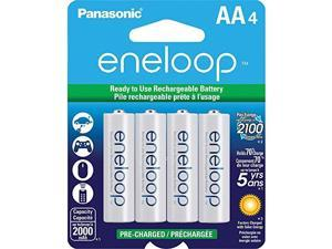 PANASONIC SPKBK3MCCA4BAW Panasonic eneloop AA New 2100 Cycle Ni-MH Pre-Charged Rechargeable Batteries