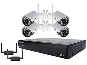 LOREX LORLH03045GC4WM Lorex ECO Black Box 4-Channel Stratus DVR with 4 Wireless Cameras