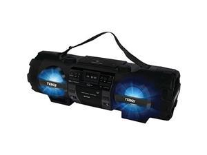 Naxa NAXNPB262B NAXA Electronics MP3/CD Bass Reflex Boombox and PA System with Bluetooth