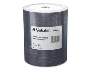 Verbatim CA7460w Verbatim 4.7 GB up to 16x DataLifePlus White Inkjet Hub Printable Recordable Disc DVD-R 100-Disc Tape Wrap