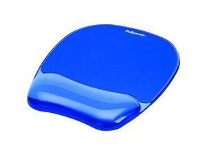 fellowes inc. 954614 B Fellowes Gel Crystal Mousepad/Wrist Rest, Blue (91141)