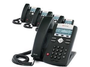 Polycom 2200-12375-001 (5-Pack) SoundPoint IP 335 2-Line IP Phone w/ AC