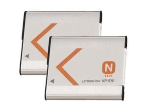 Battery for Sony NPBN1 (2-Pack) Replacement Battery