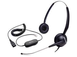 Jabra GN2115 Duo ST Corded Headset & GN1200 Cable w/ ATL Tech & Swing Away Boom