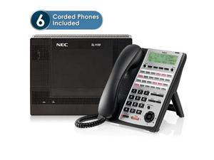 NEC 1100013 SL1100 IP System Kit w/ (6) 24 Key Phones