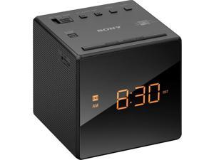 Sony ICFC1BLACK Sony ICF-C1BLACK Desktop Clock Radio - 0.1 W RMS - Mono - 1 x Alarm - FM, AM - Battery Rechargeable - Manual Snooze