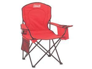 Coleman Oversized Quad Chair With Cooler - Red Adult Quad Chair W/cooler