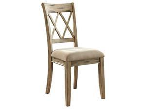 Mestler Dining UPH Side Chair (2/CN) Antique White Mestler Dining UPH Side Chair 2/CN Antique White