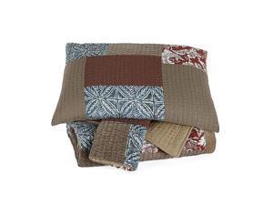 Patchwork Queen Comforter Set Plum Patchwork Queen Comforter Set Plum