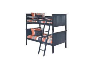 Leo Twin/Twin Bunk Bed Blue Leo Twin/Twin Bunk Bed Panels Blue