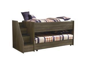 Juararo Twin Loft Caster Bed Dark Brown Juararo Twin Loft Caster Bed Dark Brown
