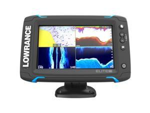 Lowrance Elite-7 Ti Touch NAV Plus Elite-7 Ti Touch Combo w/TotalScan Transom Mount Transducer and Navionics+ Chart
