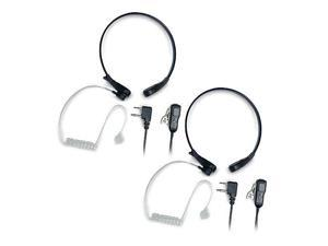 Midland AVPH8 Action Throat Microphone Headset Works w/ GMRS/FRS Radios 2 Pack