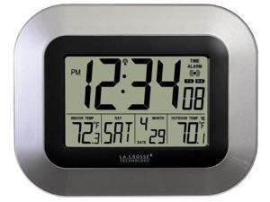 La Crosse Technology LCRWS8115USS La Crosse Technology Digital Wall Clock with Indoor and Outdoor Temperature