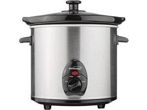 BRENTWOOD BTWSC130SM Brentwood SC-130S Slow Cooker Stainless Steel Body 3-Quart