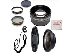 Lens Package For: Canon 55.250 f/4.5.6 IS II (58mm)