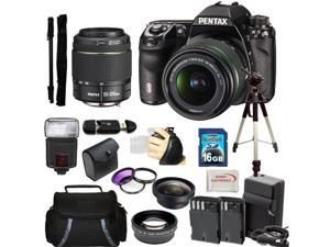 Pentax K-5 II Digital SLR Camera Kit with SMC DA 18-55mm f/3.5-5.6 AL WR Lens + SMC Pentax DA 50-200mm f/4-5.6 ED WR Zoom Lens & Huge Accessory Kit