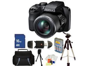 Fujifilm FinePix S8200 Digital Camera (Black) Kit 1