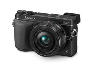 Panasonic Lumix DMC-GX7 Mirrorless Micro Four Thirds Digital Camera with 20mm f/1.7 II ASPH. Lens (Black)